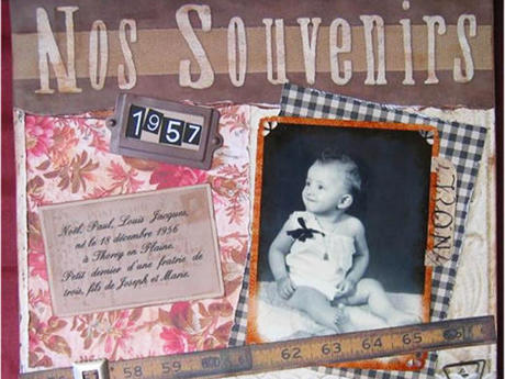 scrapbooking avec photo